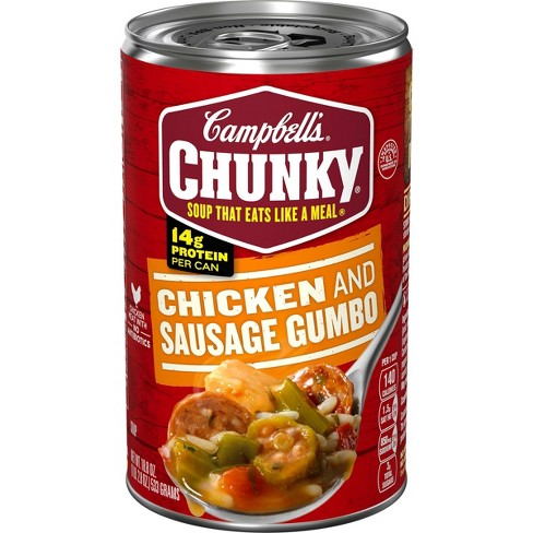 Campbell's Chunky Chicken & Sausage Gumbo Soup - 18.8oz - image 1 of 4