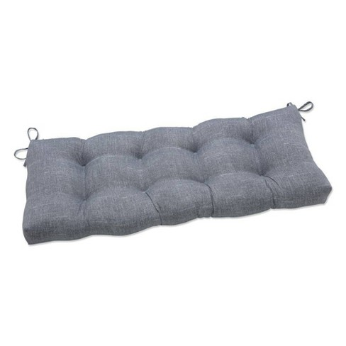 """48"""" x 18"""" Outdoor/Indoor Tufted Bench/Swing Cushion Tory Graphite Gray - Pillow Perfect - image 1 of 1"""