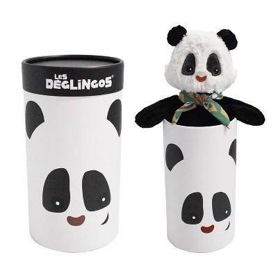 TriAction Toys Les Deglingos Big Simply Plush Animal In Tube | Rototos the Panda