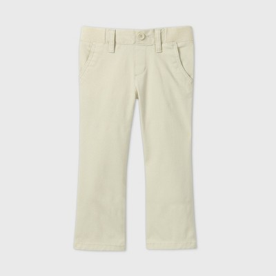 Toddler Girls' Stretch Uniform Straight Fit Pants - Cat & Jack™
