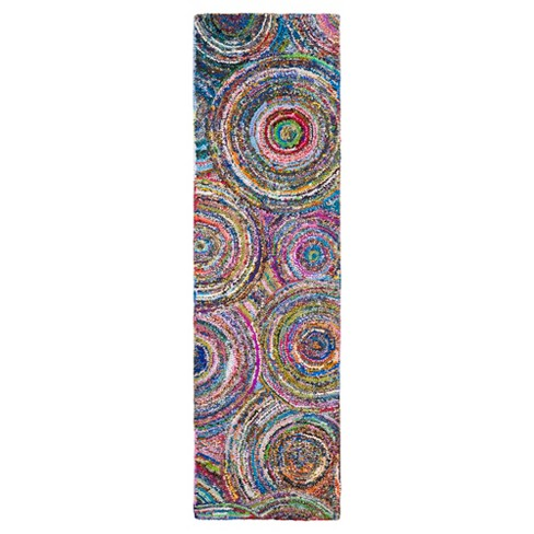 """Multi-Colored Abstract Tufted Runner - (2'3""""X12') - Safavieh® - image 1 of 3"""