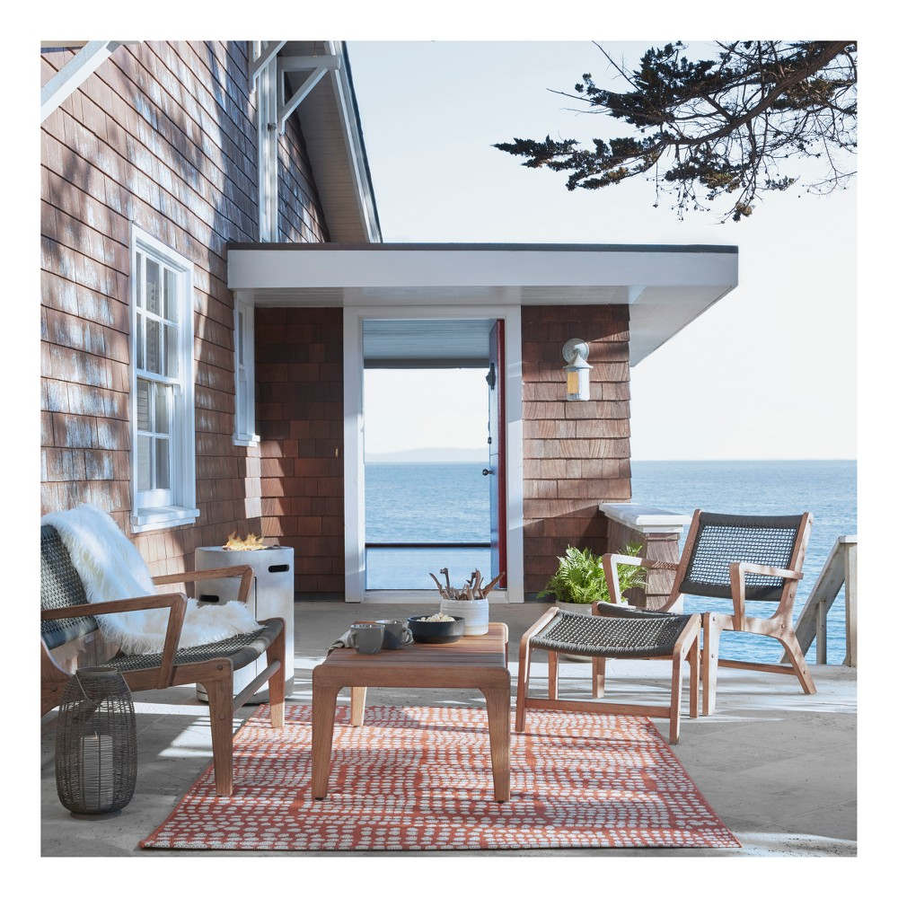 Oceans 4pc Wood & Rope Patio Conversation Set - Project 62