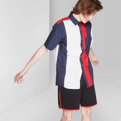 Men's Short Sleeve Button Down Shirt   Original Use Red by Down Shirt