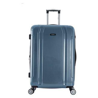 """InUSA SouthWorld 23"""" Hardside Spinner Suitcase - Blue Carbon"""