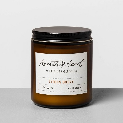 6.5oz Amber Jar Candle Citrus Grove - Hearth & Hand™ with Magnolia