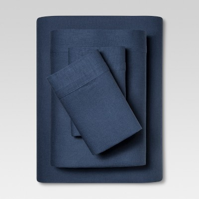 Linen Blend Sheet Set (King)Metallic Blue - Threshold™