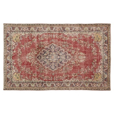 """5'10""""x9'6"""" Vintage One-of-a-Kind Gilberta Rug Red - Revival Rugs"""