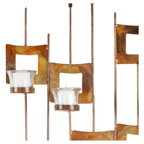 8-Votive Candle Holder Wall Décor Copper - Safavieh® : Target