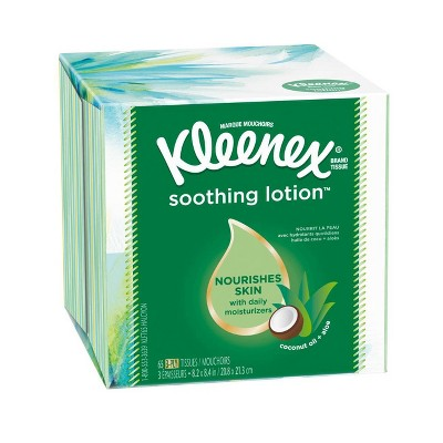 Tissues: Kleenex Soothing Lotion