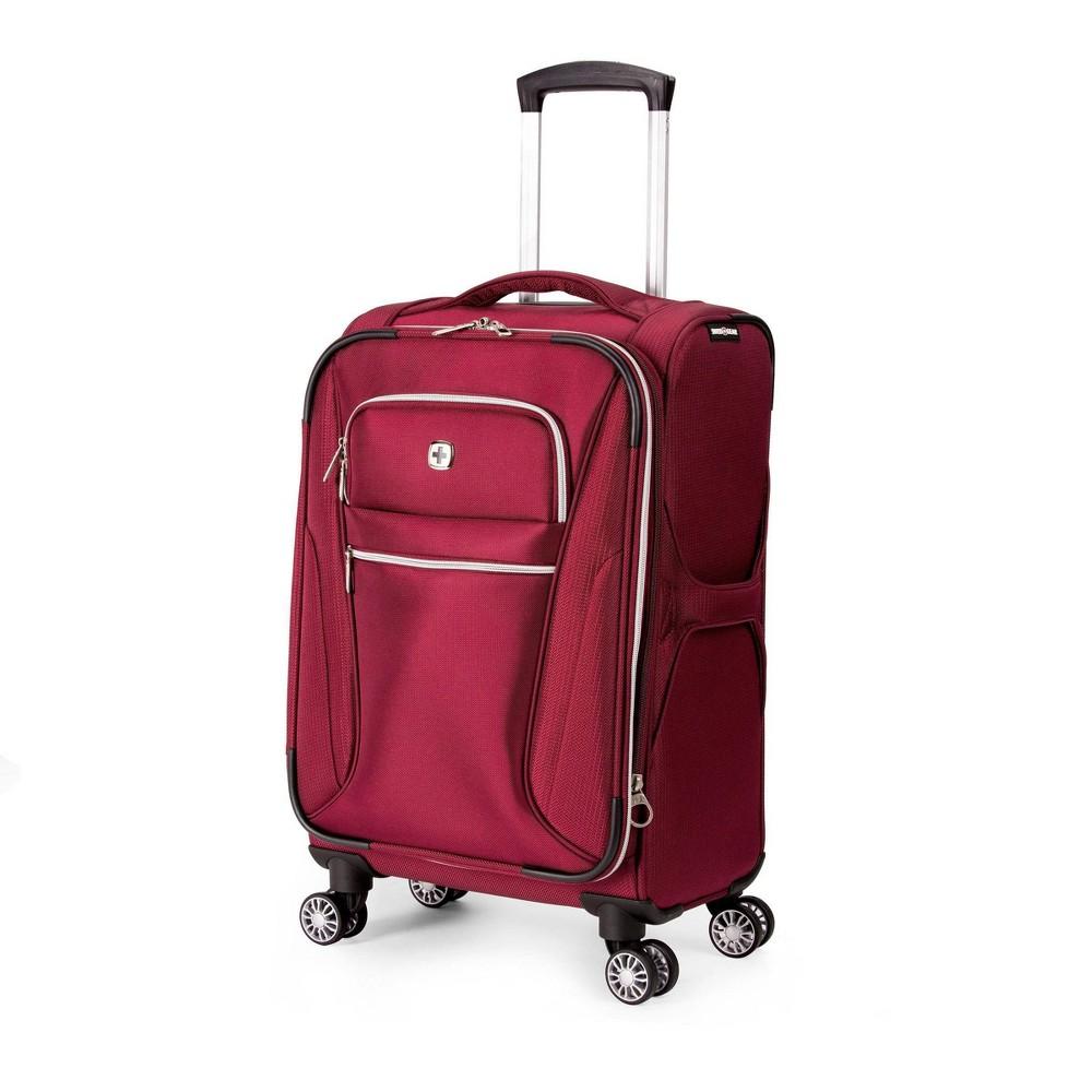 Swissgear 20 Checklite Pilot Case Carry On Suitcase Burgundy Velvet