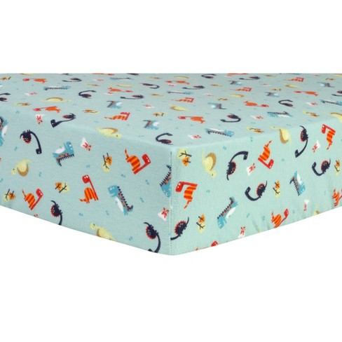 Trend Lab Deluxe Flannel Dinosaurs Fitted Crib Sheet - image 1 of 3