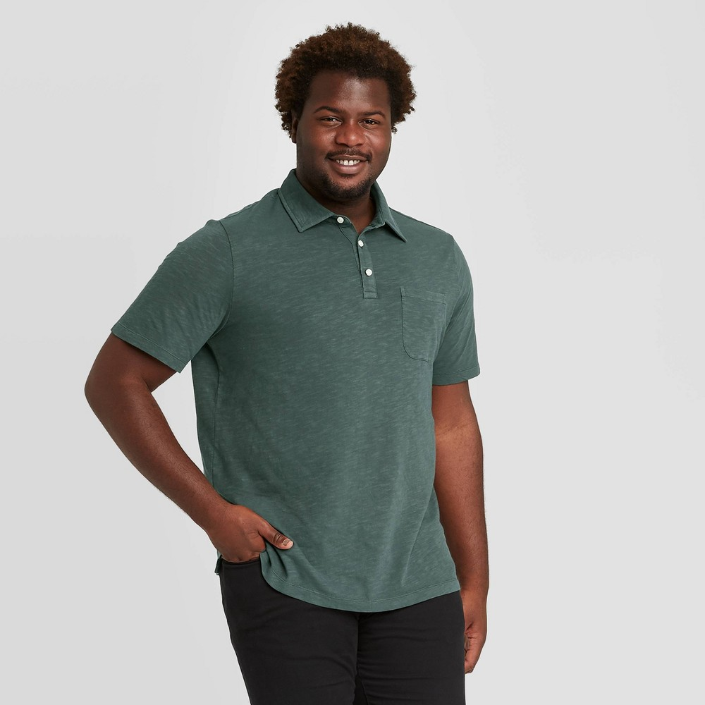 Reviews Men's Tall Standard Fit Polo Collared Shirt - Goodfellow & Co™