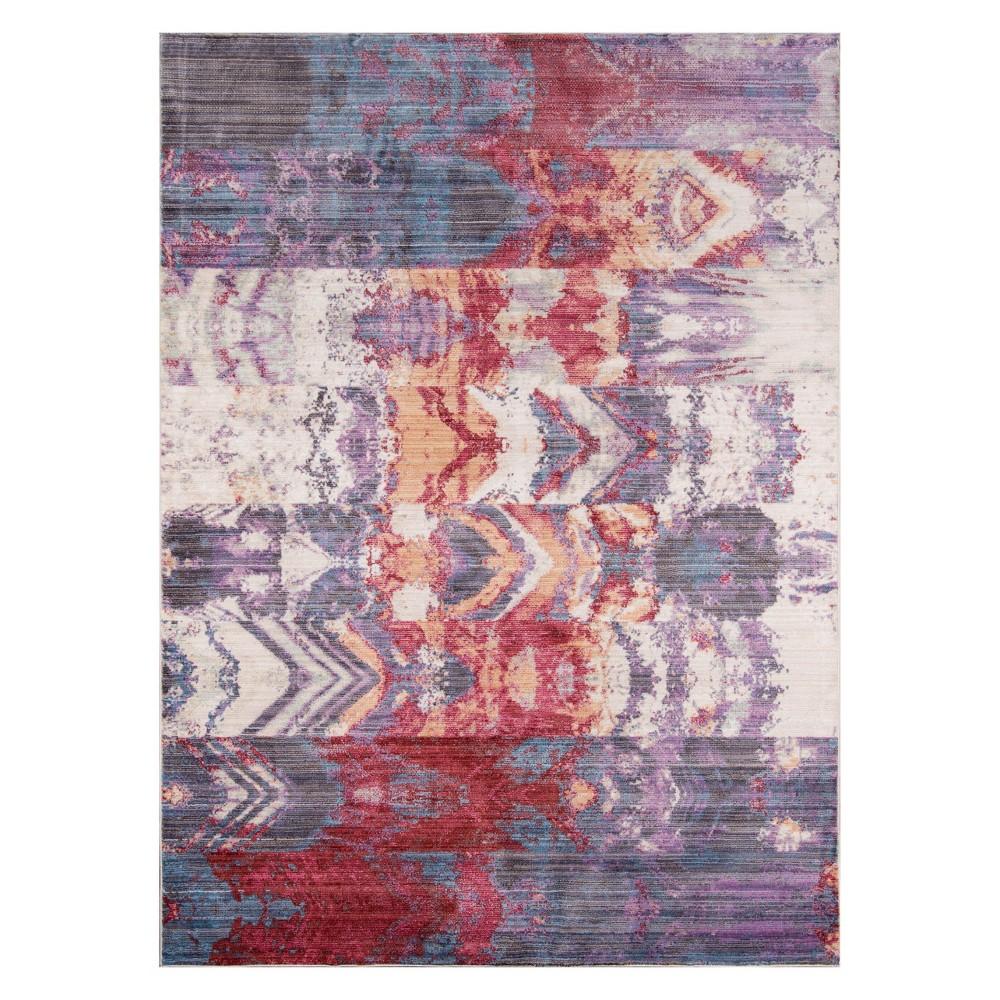 2'X3' Burst Loomed Accent Rug Purple - Momeni