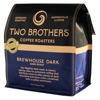 Two Brothers Brewhouse Dark Roast Whole Bean Coffee - 12oz