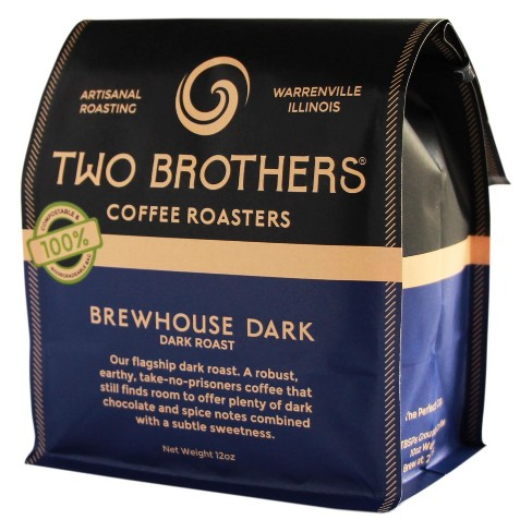 Two Brothers Brewhouse Dark Roast Whole Bean Coffee - 12oz - image 1 of 1
