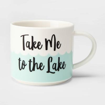 16oz Stoneware Minnesota Take Me to the Lake Mug Cream - Threshold™