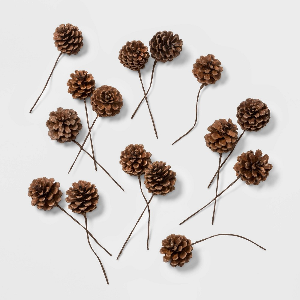 Image of 40ct Artificial Christmas Pine Cones - Wondershop , Brown