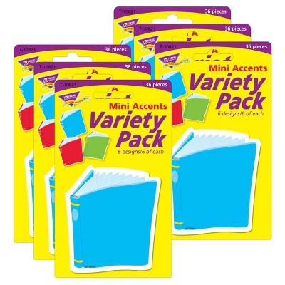 6pk 36 per Pack Bright Books Mini Accents - TREND