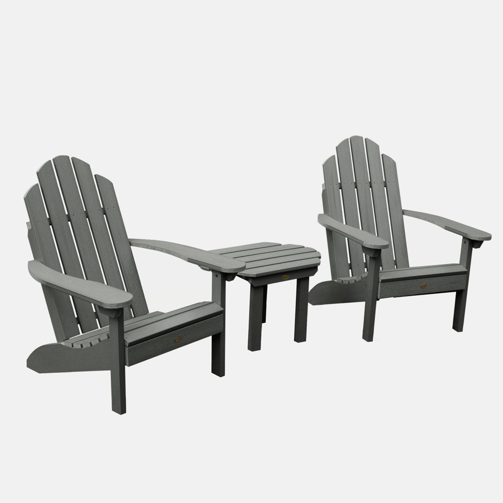 Image of 3pc Classic Westport Adirondack Chair Patio Set Coastal Teak - highwood, Coastal Brown