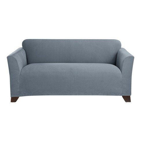 Surprising Storm Blue Stretch Morgan Loveseat Slipcover Sure Fit Unemploymentrelief Wooden Chair Designs For Living Room Unemploymentrelieforg
