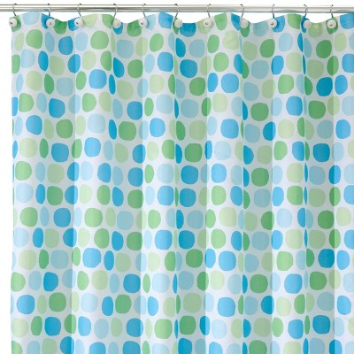 Rialto Polyester Shower Curtain Blue/Green - InterDesign