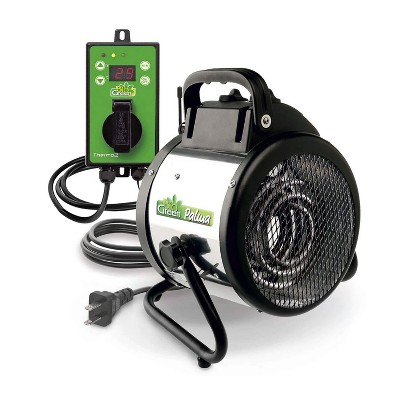 Bio Green PAL 2.0/USDT Indoor Outdoor Portable Palma Greenhouse Electric Space Heater Fan with Digital Thermostat for Up to 120 Square Feet, 1500 Watt