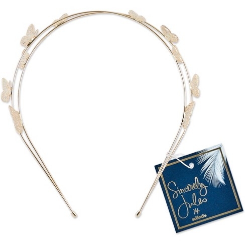 Sincerely Jules by Scnci Metal Butterfly Headband - image 1 of 2