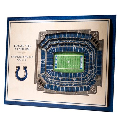 NFL Indianapolis Colts 5-Layer StadiumViews 3D Wall Art