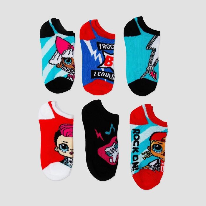 Girls' L.O.L. Surprise! Socks - Blue - image 1 of 1