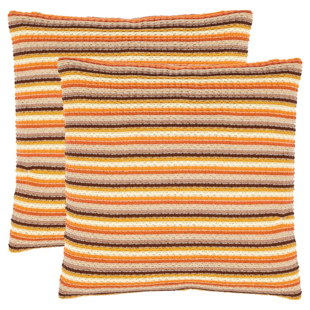 Orange Goya S/2 Throw Pillow (18