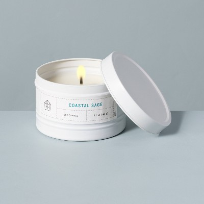 5.1oz Coastal Sage Lidded Tinplate Seasonal Candle - Hearth & Hand™ with Magnolia