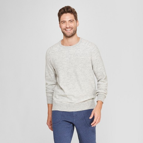 5f4f93bdda0 Men s Standard Fit Crew Neck Sweater - Goodfellow   Co™ Light Grey ...