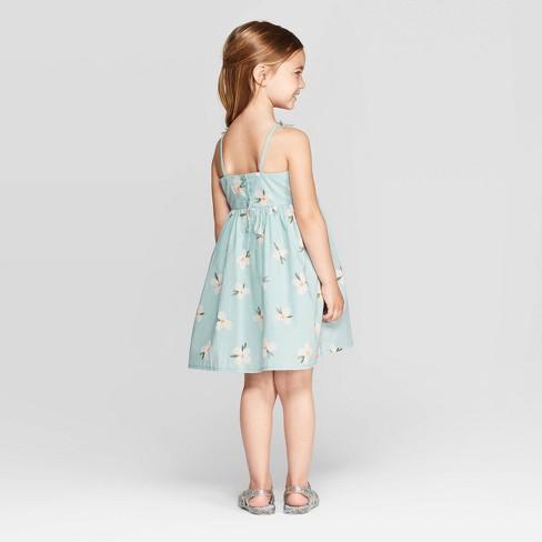da00e63861d OshKosh B gosh Toddler Girls  Floral A-Line Dress - Blue   Target