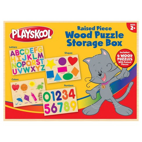 Playskool Wood Puzzle Storage box - image 1 of 6