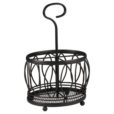 Spectrum Leaf Steel Silverware Caddy - Black