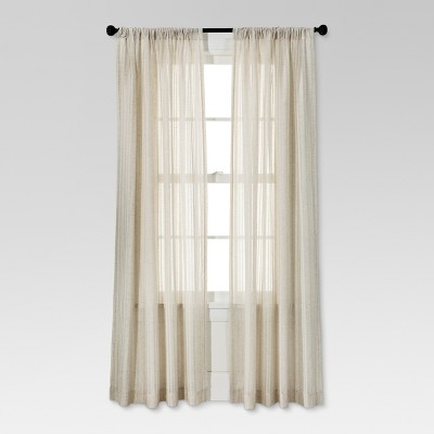 "84""x54"" Leno Weave Sheer Curtain Panel Cream - Threshold™"
