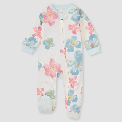 Burt's Bees Baby® Baby Girls' Natural Floral Sleep N' Play - Light Green Newborn