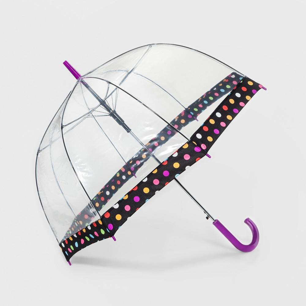 ShedRain Bubble Umbrella - Clear Dot Border