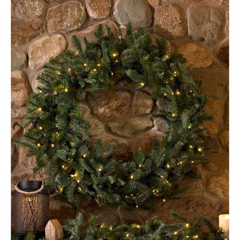 About this item - Nordmann Fir Lighted Christmas Wreath - Plow & Hearth : Target