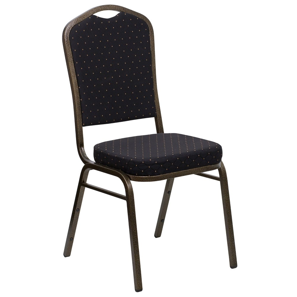 Riverstone Furniture Collection Fabric Banquet Chair Black