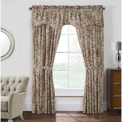 """Commonwealth Habitat Rockport Cotton Pole Top Federal Valance - 50""""x18"""" in Linen Color"""