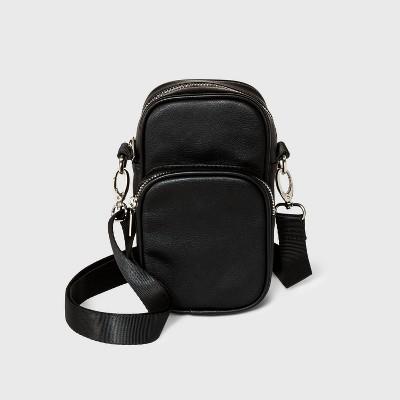 Zip Closure Phone Crossbody Bag - Wild Fable™ Black