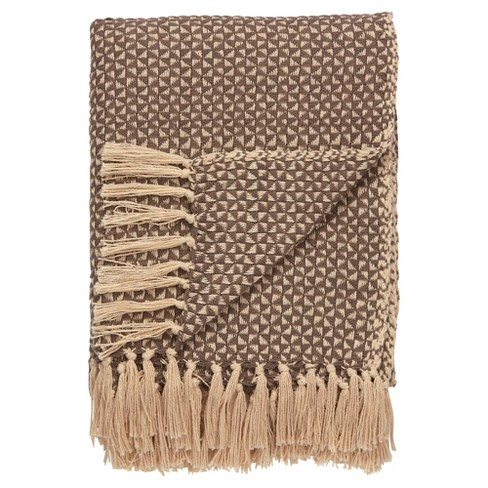 "Brown Abstract Throw (52""X68"") - Jaipur Living - image 1 of 1"