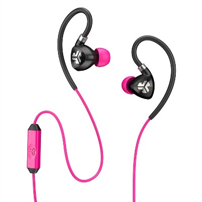JLab Fit Sport Wired Earbuds - Gray/Pink
