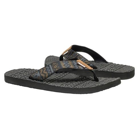 ce2293c3c737 Men s MUK LUKS® Scotty Flip Flop Sandals - Black 13   Target