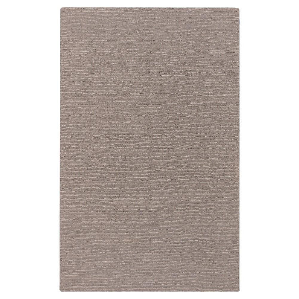 Gray Solid Loomed Area Rug - (5'X8') - Surya, Medium Gray
