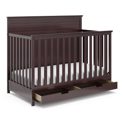 Storkcraft Homestead 4-in-1 Convertible Crib With Drawer - Espresso
