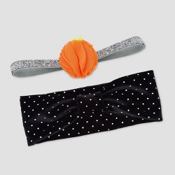 Baby Girls' 2pk Headwrap - Just One You® made by carter's Orange/Black