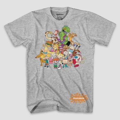 Men's Nickelodeon Short Sleeve Graphic Crewneck T-Shirt - Gray