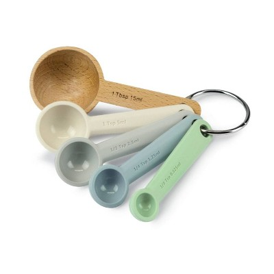 Zeal Silicone and Beechwood Measuring Spoons